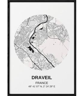 Affiche Carte Draveil