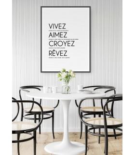 """Affiche """"Vivez, Aimez, Croyez..."""""""