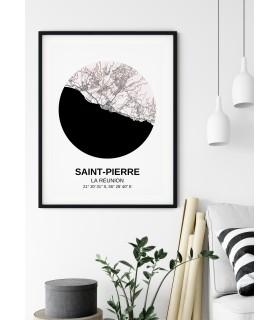 Affiche Carte Saint-Pierre
