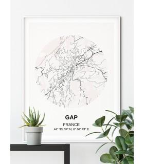 Affiche Carte Gap