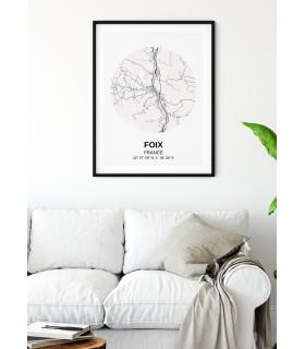 Affiche Carte Foix
