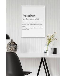 Affiche Définition Vendeur