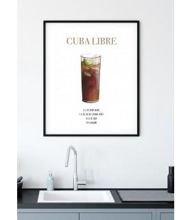 Affiche Cocktail Cuba Libre
