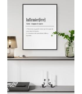 Affiche Définition Infirmier