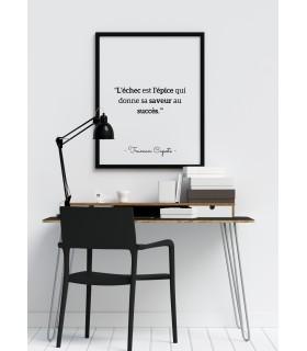 """Affiche Voltaire : """"L'échec est l'épice..."""""""