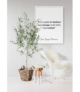 """Affiche Rousseau : """"Il n'y a point de bonheur..."""""""