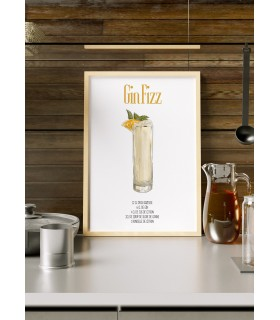 Affiche Cocktail Gin Fizz