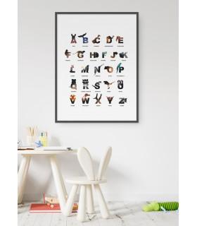Affiche Alphabet des enfants