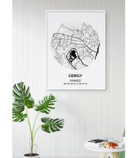 Affiche Carte Cergy