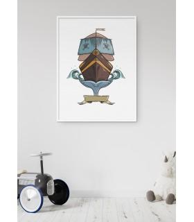 Affiche Enfant Bateau Pirate