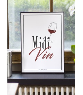 Affiche Midi Vin