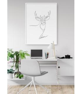 Affiche Line Art Deer