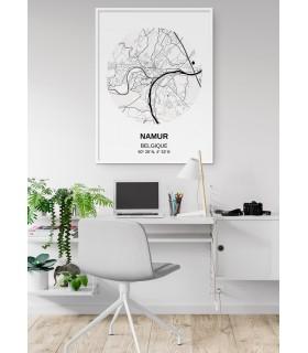 Affiche Carte Namur