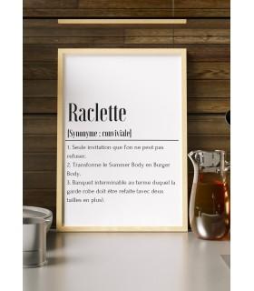 Affiche Définition Raclette