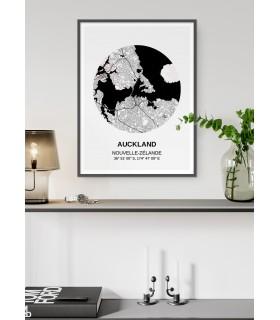 Affiche Carte Auckland