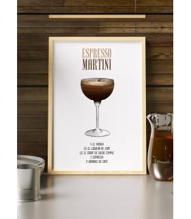 Affiche Cocktail Espresso Martini