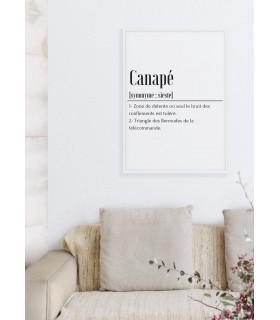 Affiche Définition Canapé