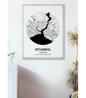 Affiche Carte Istanbul