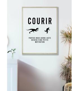 """Affiche """"Courir : parfois nous avons juste besoin..."""""""