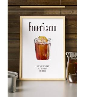 Affiche Cocktail Americano