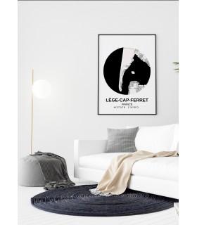 Affiche Carte Lège-Cap-Ferret